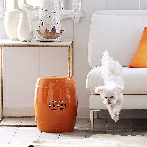 Керамический столик-табурет Garden Stool, Orange